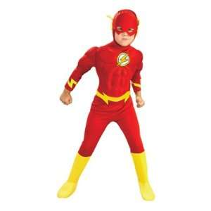 Deluxe Muscle Chest Flash Kids Costume Large