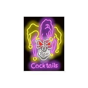 Jester Skull Cocktails Neon Sign: Sports & Outdoors