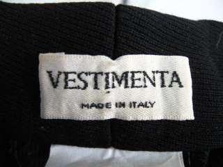 VESTIMENTA Black Wool Classic Dress Pants Slacks 8