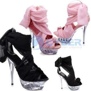 Silk Strappy high heels ladies womens Fashion Sandals