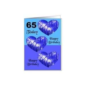 A 65th Birthday Card   Hearts Card: Toys & Games