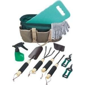 Gardening Set Knee Mat, Gloves, Hand Held Rake Patio, Lawn & Garden