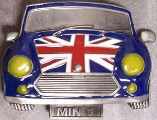 Metal Belt Buckle Vehicle Car Mini Cooper UK Flag NEW
