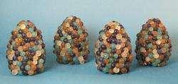 Set of 4 Italian Venetian Art Glass Lamp Shades c.1960