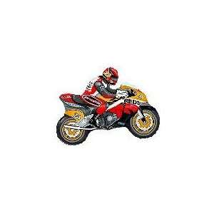 36 Moto Racing Bike Red/Orange   Mylar Balloon Foil