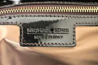 Michael Kors Sutton Lg. shoulder Black & White Tweed wPatent Details