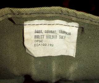OLD ORIGINAL VTG 1960s VIETNAM WAR SIZE 9R ARMY COMBAT JUNGLE WORK