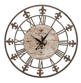Large Wrought Iron Fl De Lis METAL Wall CLOCK DECOR French NEW 36