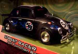 LOVE BUG FULLY LOADED BLACK STREET RACER RC R/C RADIO CONTROLLED CAR