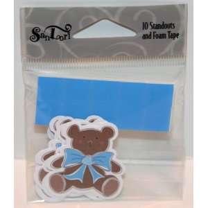 Cute Baby Brown Teddy Bear #D 281 Die Cut Standouts   Add On With Foam