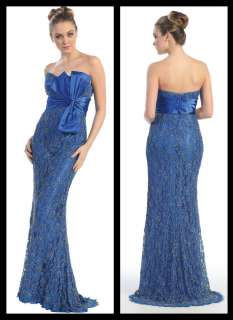 Womens Long Strapless Evening Party Dress Prom Homecoming Bridesmaid