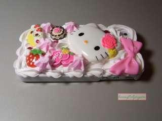 HELLO KITTY Hellokitty Ice Cream 3D Cake Hard Case COVER for iPhone 4