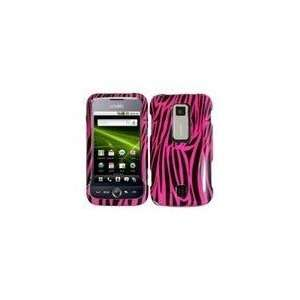 Phone Case for Huawei Ascend M860 Rubberized Design Cover   Pink Zebra