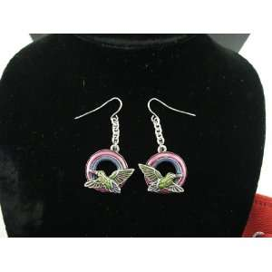 J038 Hummers Night Dream Fairy Earrings Lead Free Pewter