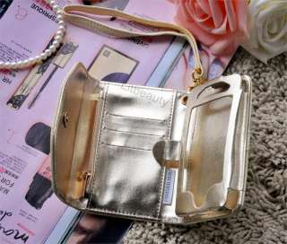 New Women iPhone Leather Wristlet Cover Case Purse Wallet for iphone 4