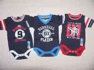 NEW ONLY BOYS ONE PC OUTFIT NAVY BLUE BASEBALL INFANTS