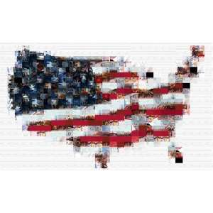 US Flag Map Wallpaper 1280x768: Patio, Lawn & Garden