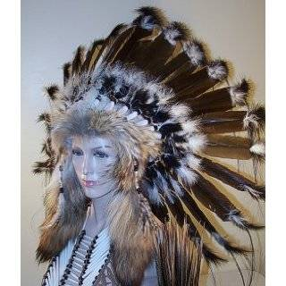 Native American War Bonnet Feather Headdress, Reproduction
