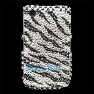 Zebra Hard Bling RHINESTONE Case Cover iPod Touch 4 4G