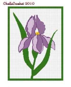 Beautiful Iris Flower Afghan Crochet Pattern Graph