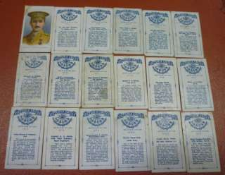 1915 C67 ITC Victoria Cross Heroes Near Set Cards