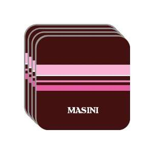 Personal Name Gift   MASINI Set of 4 Mini Mousepad Coasters (pink