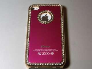 Luxury Elegant Diamond Bling Crystal designer Case Cover for iPhone 4
