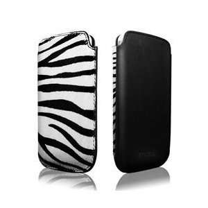 more. Safara Classic Leather Case for iPhone 4/4S (Zebra/Black)   fit