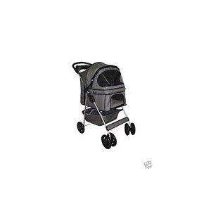 Classic 4 Wheels Pet Dog Cat Stroller w/RainCover 8013