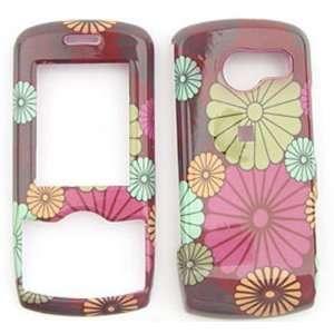 LG Lyric MT375 Big Daisy Flowers on Brown Hard Case/Cover