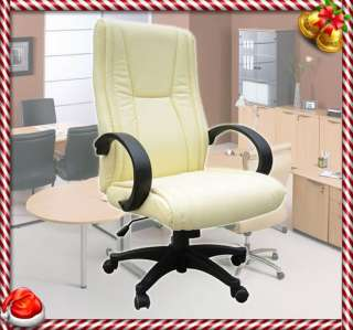Leather Office Chair Computer Task Desk Conference Adjustment
