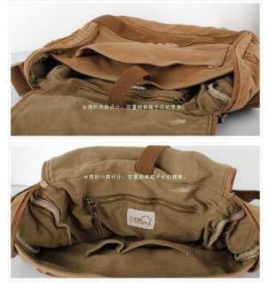 1086 Men Women Canvas Shoulder Bag Messenger Bag Leather School Bag
