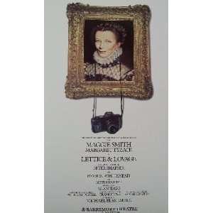 LETTICE & LOVAGE (ORIGINAL BROADWAY THEATRE WINDOW CARD)