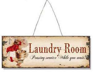 Laundry Room, Metal / Tin, Sign / Plaque |