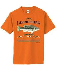 Largemouth Bass Fishing History Fisherman T Shirt S  6x