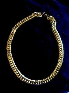 Vintage Gold Tone Large Chain Necklace Estate Jewelry