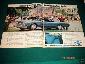 Original 1972 Chevrolet Chevy Impala land yacht ad