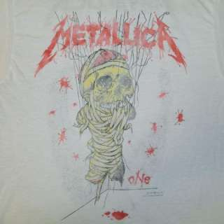 VINTAGE METALLICA ONE 1989 CONCERT T SHIRT TOUR ORIGINAL SPRING FORD