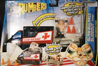 SHEAMUS W/ SLAM BULANCE SLIDEOUT PLAYSET   WWE RUMBLERS TOY WRESTLING