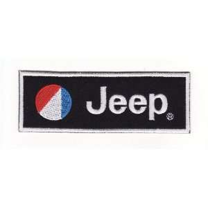 Jeep Black Logo Racing Car Embroidered Iron on Patch Arts