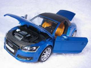 Audi TT blue Cararama Diecast Car Model 124 1/24