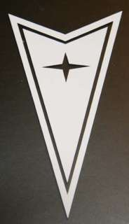 PONTIAC LOGO Vinyl Decal Choose Size/Color arrowhead window sticker