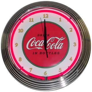 Classic Coca Cola 1910 design neon clock sign Coke Soda licensed Lamp