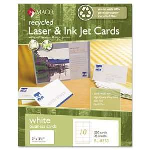 Chartpak Recycled Laser/Inkjet Business Cards MACRL8550