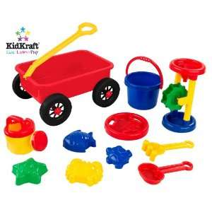 KidKraft Wagon Sand Toy Eleven Piece Set Toys & Games