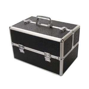 Extra Larg Black Pro Silver Makeup Case Size 15.4 9.8 9