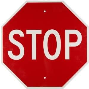 Brady 94145 36 Height, 36 Width Standard Traffic Sign, Legend Stop