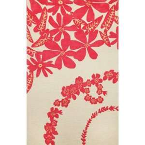 Indoor/Outdoor Hand Tufted Area Rug Linen Shirts 8 Square Pink Carpet