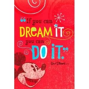 Graduation Greeting Card   Mickey Mouse Dream It Disney