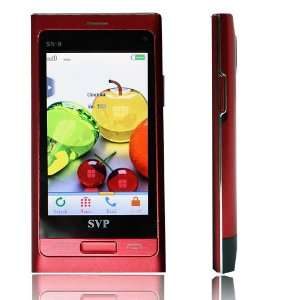 3.2 Display Dual SIM Red SN 9 Quadband Touch Screen Phone